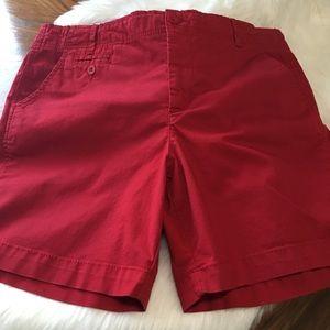 Faded Glory Bermuda Shorts Red sz 16 NWOT